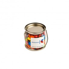 SMALL PVC BUCKET FILLED WITH CHOC BEANS 170G (CORPORATE COLOURS)