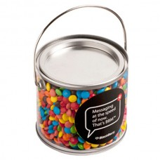 MEDIUM PVC  BUCKET FILLED WITH M&MS 400G