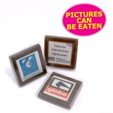 PICTURE CHOCOLATE ? MILK OR DARK CHOCOLATE IN PVC STAND UP BOX