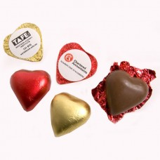 CHOCOLATE HEART 7G (PINK; RED OR GOLD HEART)