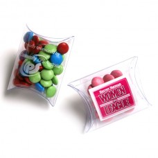 CHOC BEANS IN PVC PILLOW PACK 25G (CORPORATE COLOURS)