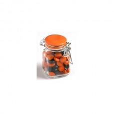 CHOC BEANS IN GLASS CLIP LOCK JAR 80G (CORPORATE COLOURS)