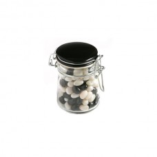 JELLY BEANS IN GLASS CLIP LOCK JAR 160G (MIXED COLOURS OR CORPORATE COLOURS)