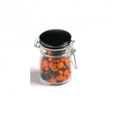 CHOC BEANS IN GLASS CLIP LOCK JAR 160G (CORPORATE COLOURS)