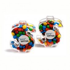 ACRYLIC DOLLAR FILLED WITH MINI M&MS  40G