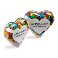ACRYLIC HEART FILLED WITH  MINI M&MS 50G