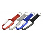 CARABINER WITH STRAP KEY RING