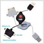 3 in 1 Retractable USB Charger