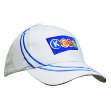 BRUSHED HEAVY COTTON CAP WITH LINE EMBROIDERY