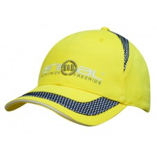 BRUSHED HEAVY COTTON CAP WITH MESH INSERTS