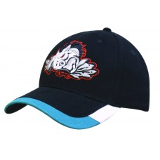 BRUSHED HEAVY COTTON CAP WITH TWO TONE PEAK TRIM