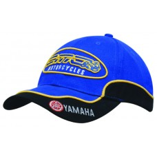 BRUSHED HEAVY COTTON CAP WITH PEAK & CROWN TRIM AND PIPING