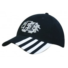BRUSHED HEAVY COTTON CAP WITH LAMINATED PEAK INSERTS