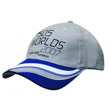 BRUSHED HEAVY COTTON CAP WITH INSERTS & EMBROIDERED TRIM