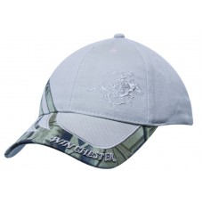 BRUSHED HEAVY COTTON CAP WITH CAMOUFLAGE INSERTS