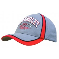 BRUSHED HEAVY COTTON CAP WITH PIPED PEAK & CROWN INDENTS