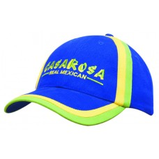 BRUSHED HEAVY COTTON CAP WITH INSERTED TRIM TO PEAK & CROWN