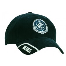 BRUSHED HEAVY COTTON CAP WITH TRIMMED PEAK INSERT