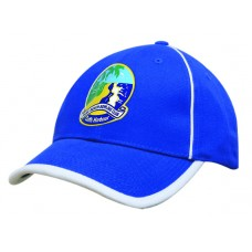 BRUSHED HEAVY COTTON CAP WITH PEAK TRIM & PIPING