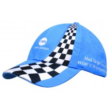 BRUSHED HEAVY COTTON  CAP WITH INSERTED CHECKERED PANELS