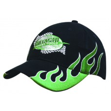 BRUSHED HEAVY COTTON CAP WITH SIDE FLAMES
