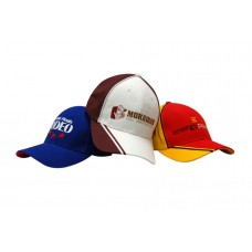 BRUSHED HEAVY COTTON CAP WITH CROWN PIPING & PEAK DOUBLE LINE EMBROIDERY