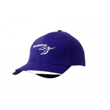 BRUSHED HEAVY COTTON CAP WITH FABRIC INSERTS ON PEAK