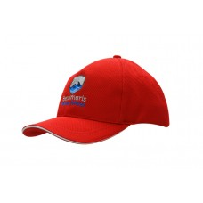DOUBLE PIQUE MESH CAP WITH SANDWICH TRIM