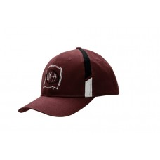 BRUSHED HEAVY COTTON CAP WITH FABRIC INSERTS ON CROWN