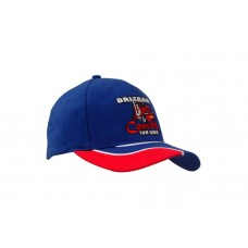 BRUSHED HEAVY COTTON CAP WITH INSERT/EMBROIDERY ON PEAK