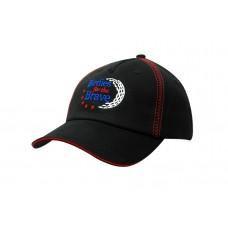 DELUXE BULL DENIM COTTON TWILL CAP WITH SANDWICH TRIM & ZIG ZAG CROWN STITCHING