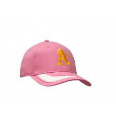 BRUSHED HEAVY COTTON CAP WITH PEAK INSERT & EMBROIDERY