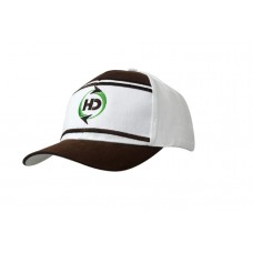 BRUSHED HEAVY COTTON CAP WITH CROWN FABRIC INSERTS