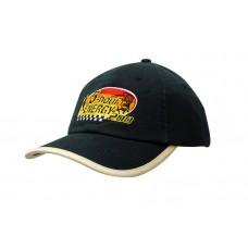 WASHED CHINO TWILL CAP WITH PEAK TRIM