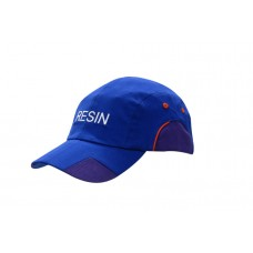 BRUSHED HEAVY COTTON CAP WITH FABRIC INSERTS/PIPING ON CROWN & PEAK