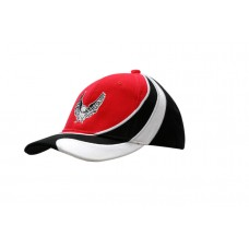 BRUSHED HEAVY COTTON CAP WITH INSERTS & EMBROIDERY ON CROWN & PEAK