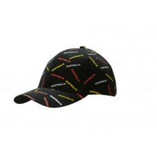 BRUSHED HEAVY COTTON CAP WITH ALL OVER PRINT