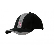 BRUSHED HEAVY COTTON CAP WITH CROWN INSERT & PEAK INDENT
