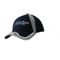 BRUSHED HEAVY COTTON CAP WITH FABRIC INSERT ON CROWN & PEAK INSERTS/EMBROIDERY