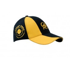 BRUSHED HEAVY COTTON CAP WITH SANDWICH TRIM AND FABRIC INSERT ON CROWN & PEAK