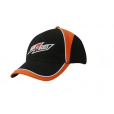 BRUSHED HEAVY COTTON CAP WITH CROWN/PEAK INSERTS & PIPING