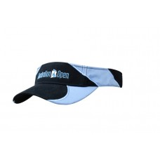 BRUSHED HEAVY COTTON VISOR WITH FABRIC INSERTS/EMBROIDERY ON PEAK & CROWN