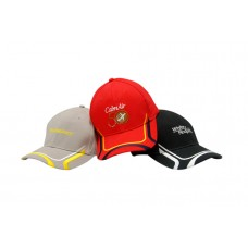 BRUSHED HEAVY COTTON CAP WITH PEAK & CROWN EMBROIDERED DESIGN