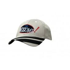 DELUXE BULL DENIM COTTON TWILL CAP WITH PEAK FABRIC STRIPES