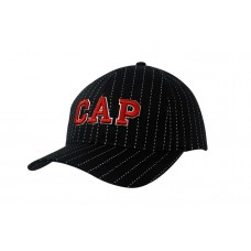 COTTON PIN STRIPE CAP WITH FILTER MESH LINING