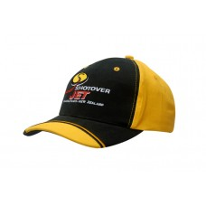 BRUSHED HEAVY COTTON CAP WITH PEAK INDENT & EMBROIDERY