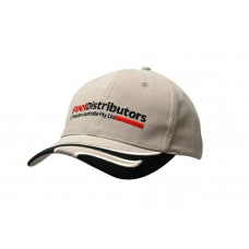 BRUSHED HEAVY COTTON CAP WITH WAVE INDENT & EMBROIDERY ON PEAK