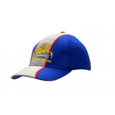 BRUSHED HEAVY COTTON CAP WITH FABRIC INSERT/EMBROIDERY ON CROWN & PEAK