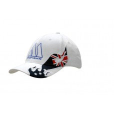 BRUSHED HEAVY COTTON CAP WITH AUSTRALIA APPLIQUE ON CROWN & PEAK