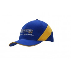BRUSHED HEAVY COTTON CAP WITH SANDWICH TRIM & FABRIC INSERT ON CROWN